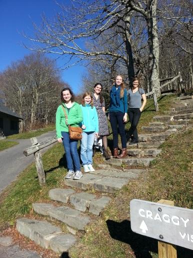 Hiking through Craggy Gardens