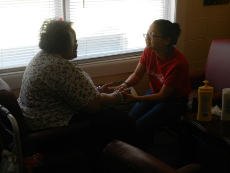 Hand Massages for the Residents