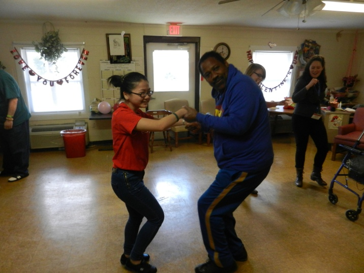 Dancing at the Valentine's Party