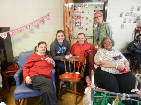 Valentine's Day Party at advanced care