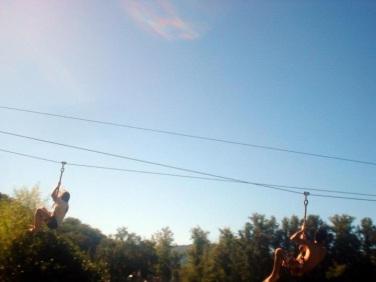 Ziplining at the Parish Picnic